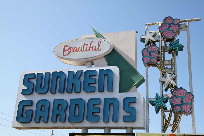 The Retro Sign of Sunken Gardens  - St. Petersburg, Florida