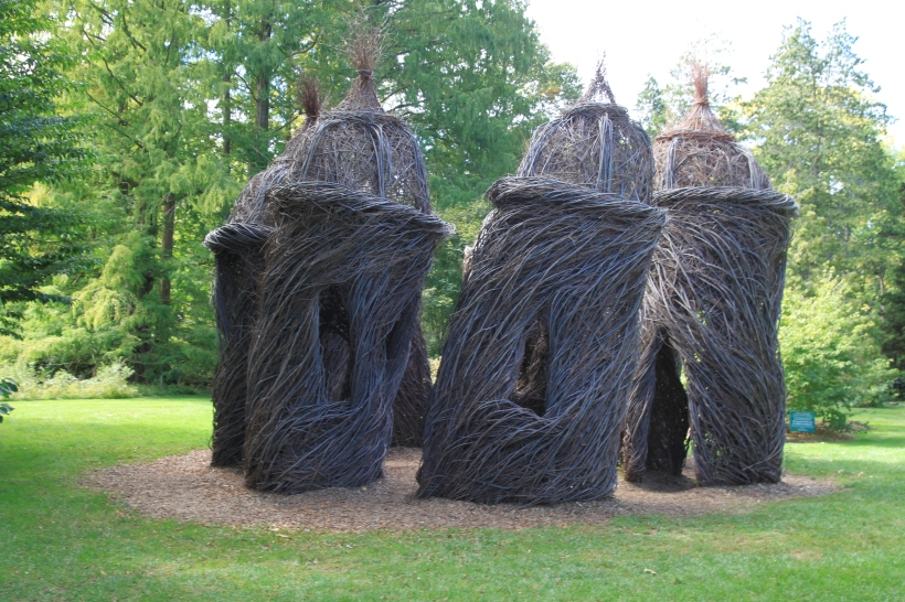 Twig Houses at Morris Arboretum