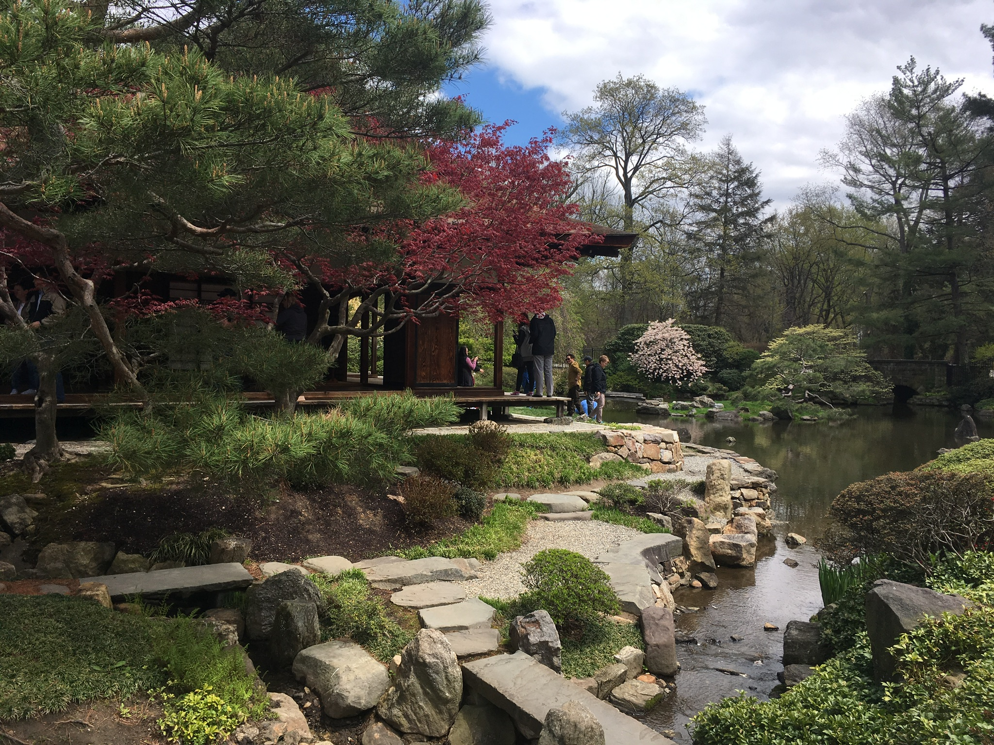 A View of the Shofuso Japanese House and Garden