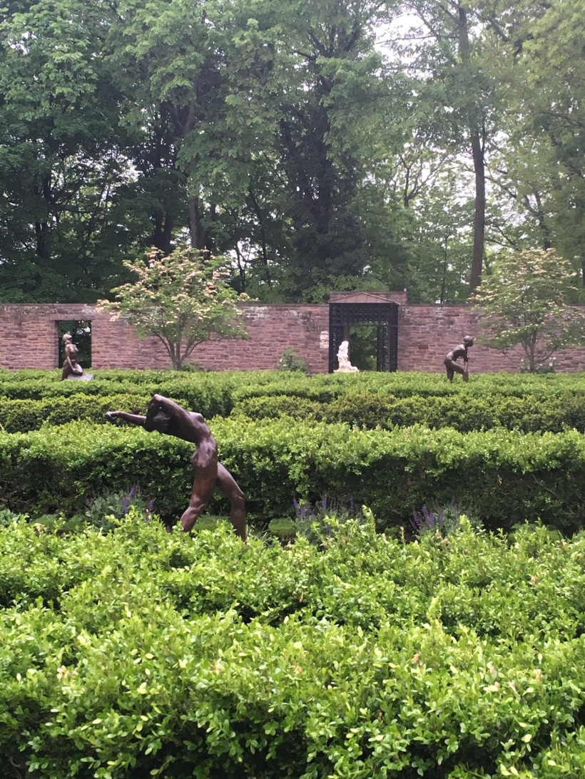 Sculptures in the Tyler Formal Garden